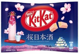 KitKat mini Sakura & Sake - zak 12 stuks