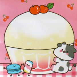 Kawaii Sticky Notes - Cow Dessert