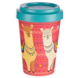 Kawaii Take-Away Becher Lama