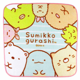 Mini Handtuch 21 x 21 cm Sumikkogurashi Friends