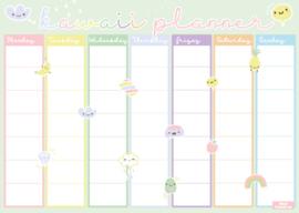 A4 Kawaii (huiswerk)planner Pastel