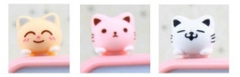 Dust Plug Kawaii Cat =(^-^)=