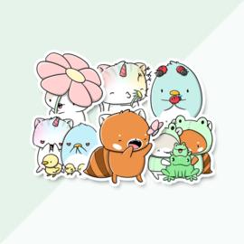 Stickerset - Spring - CutieSquad