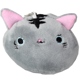 Plushie Kawaii cat - grijs