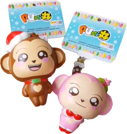 Squishy Puni Maru Cheeki & Cheeka Holiday Edition