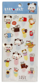 Stickersheet Mochi Mochi Panda Bookmarks