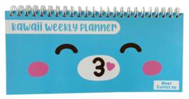 Kawaii Weekly Planner pastel blue