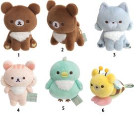 San-X Chairoi Koguma No Otomodachi Rilakkuma mini plushie - Pick one