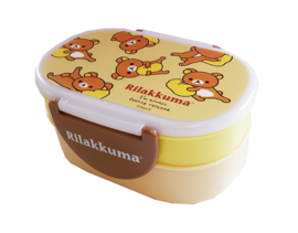 Kawaii bentobox double Rilakkuma Chilling Beige