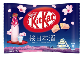 KitKat mini Sakura Japanese Sake - 12 minis