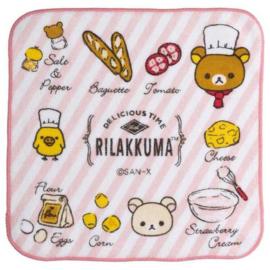 Mini Handtuch 21 x 21 cm Rilakkuma Kitchen