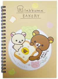 Notebook San-X Rilakkuma Bakery A5
