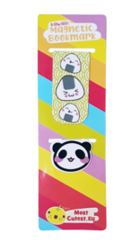 Magnetic bookmark set - Panda