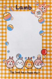 Kawaii Sticky Notes - Bunny Lamb