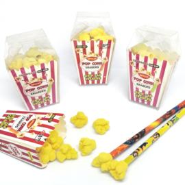 Popcorn Radiergummi set (+ Bleistiftkappen)