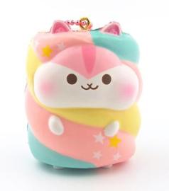 Squishy Poli Hamster Marshmallow Pink