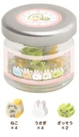Mini Gummen in potje - Sumikko Gurashi - Fushigina Usagi No Oniwa #2 Neko