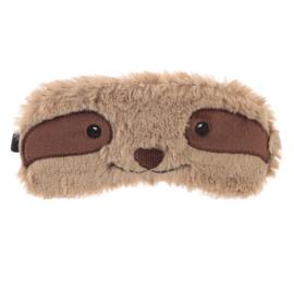 Slaapmasker Luiaard bruin