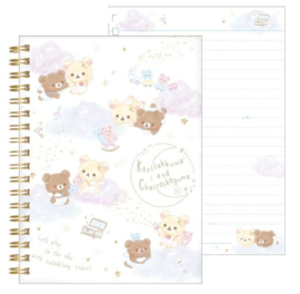 Notebook San-X Korilakkuma & Chairoikoguma Happy Clouds