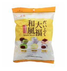 Mochi uitdeelverpakking - 3 x mix matcha + milk + red bean