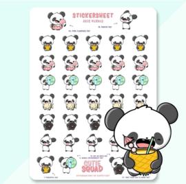 Stickersheet -June Pandas - CutieSquad