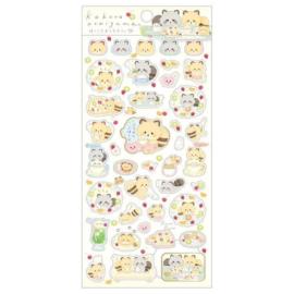 Stickervel San-X - Kokoro Araiguma - Beige