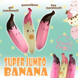 Squishy Puni Maru Jumbo Banane (30cm!) - Marshmellii or Yummiibear