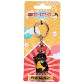 Keychain Maneki Neko Black