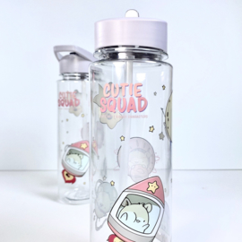 Drinkfles met rietje - Cutiesquad Space Hamsters
