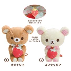 Rilakkuma Strawberry  Plush - 17 cm - Official San-X