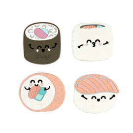 Kawaii Bento Onderzetters - Sushi