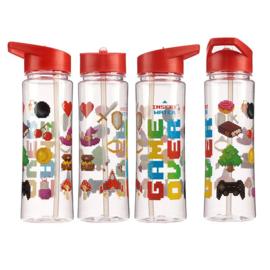 Kawaii Wasserflasche 500ml - Game Over Rot