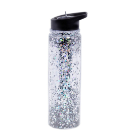 Drinkbottle Black Glitter
