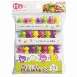 Bento picks- 20 pcs - Coloured Animals