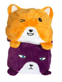 Kawaii reversible plushie - Purple Orange Cat