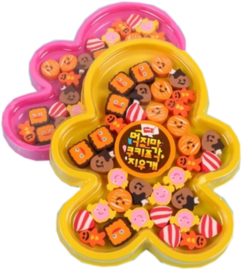 Mini Erasers set Gingerbread man