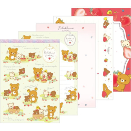 Memoblok groot Rilakkuma Strawberry Party groen
