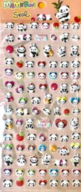Stickersheet puffy Panda Parade