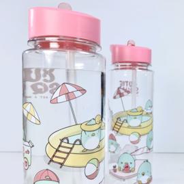 Drinkfles met rietje - Cutiesquad Summer Penguins