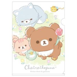 A4 insteekmap Chairoi Koguma No Otomodachi - flower friends