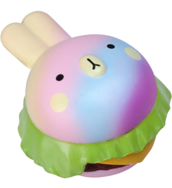 Squishy Vlampo Rainbow Rabbit Burger