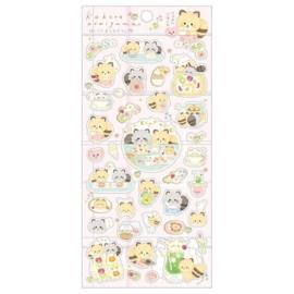Stickersheet San-X - Kokoro Araiguma - pink