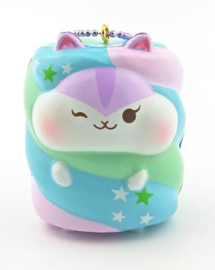 Squishy Poli Hamster Marshmallow Purple