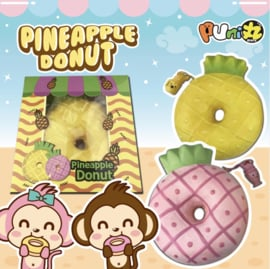 Squishy Puni Maru Pineapple Donuts - pink or yellow