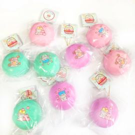 1 X  Squishy Poli Fruity Jumbo Bun (9 cm) - surprise