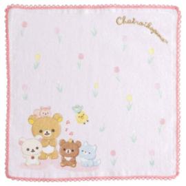 Mini Handtowel 25 x 25 cm Rilakkuma Chairoi Koguma No Otomodachi - Pink