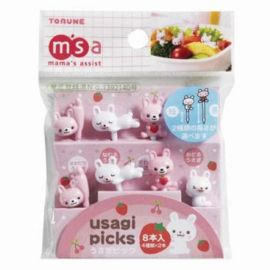 Kawaii Picks Usagi - Bento Picks