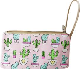 Federtasche Cactus Rosa