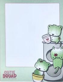 Sticky Notes Block - Cactus Cat Group - CutieSquad