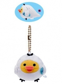 Kiiroitori Darakko Sea Otter sleutelhanger  - Official San-X Plush
